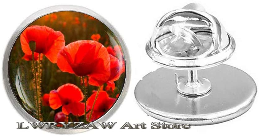 Red Poppy Pin, red Poppy Brooch, Poppy Brooch, Red Flower Jewelry, Red Brooch, Red Poppies Pin, Floral Brooch,M92