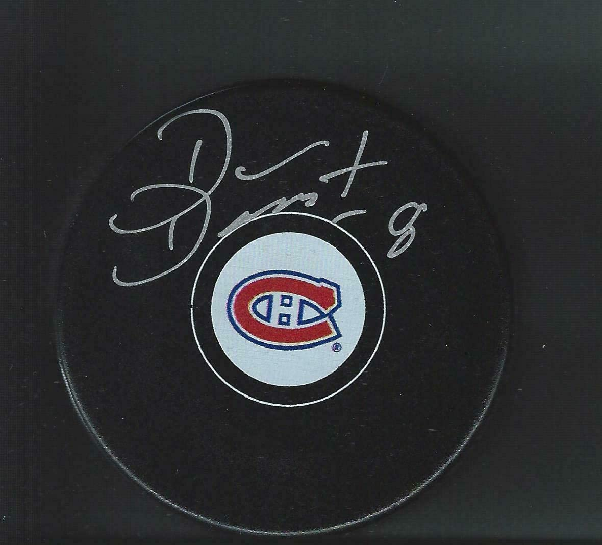 Dan Dauost Signed Montreal Canadiens Puck - Autographed NHL Pucks