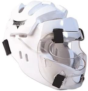 PROFORCE Thunder Full Headgear w/Face Shield - White - X-Large