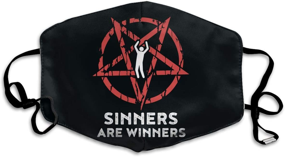 Caimizogojocrz Sinners are Winners Dust Masks Can Be Washed and Reused Windproof Dust Masks