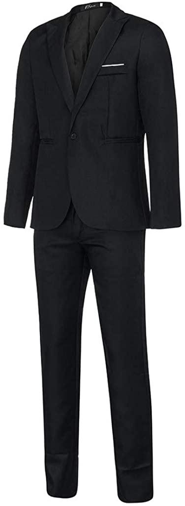 Centory Slim Fit 2 Piece Suit for Men One Button Casual/Formal/Wedding Tuxedo Blazer & Trousers Suit