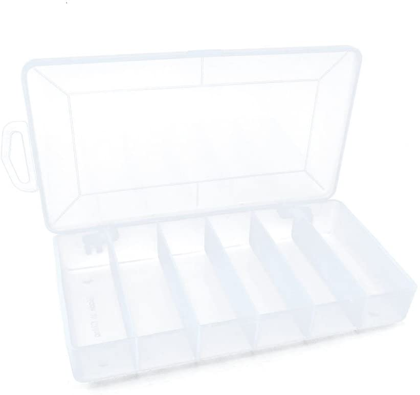 Plastic Tackle Box Clear Beads Lure Jewelry Nail Art Small Parts Display Case Storage Organizer Containers 030