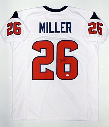 Signed Lamar Miller Jersey - White Pro Style Witnessed - JSA Certified - Autographed NFL Jerseys