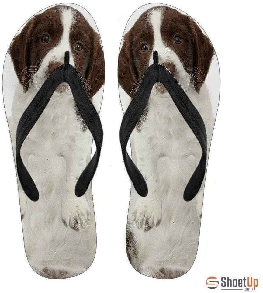 Paws With Attitude English Springer Spaniel Flip Flops for Men Limited Edition