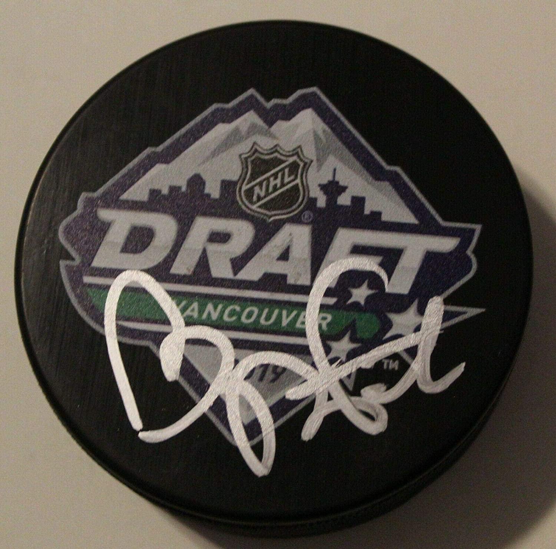 Tobias Bjornfot Autographed Puck - 2019 NHL Draft W COA - Autographed NHL Pucks