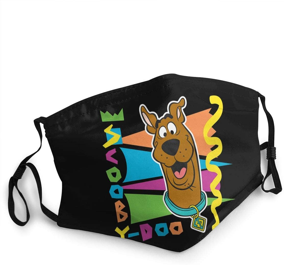 Hkany Fashionable Protection, Scooby Doo Neutral Black Dustproof Cotton, Windproof and Dustproof. Anti-Pollution.