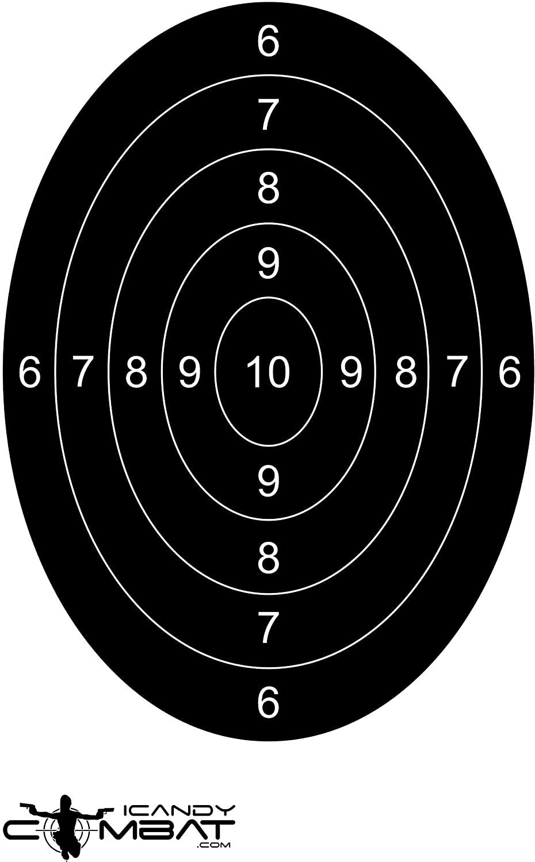 iCandy Combat Oval Bulls Eye Black Practice Targets