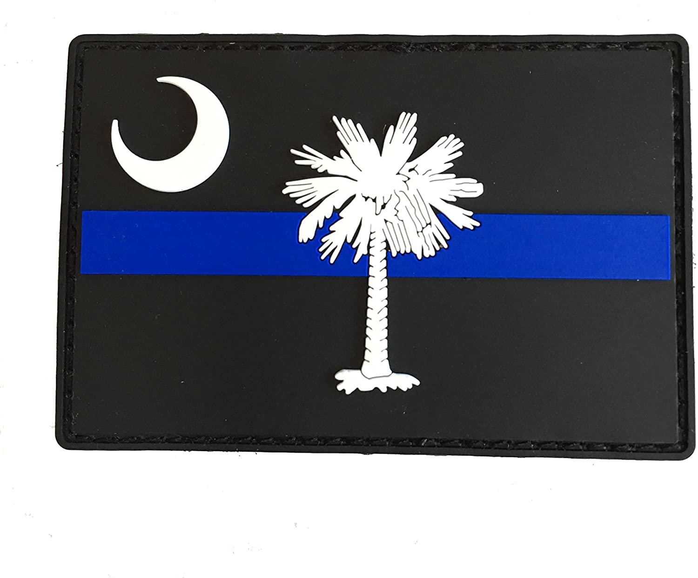 Stevens Tactical Shop Subdued Thin Blue Line South Carolina State Flag PVC Patch