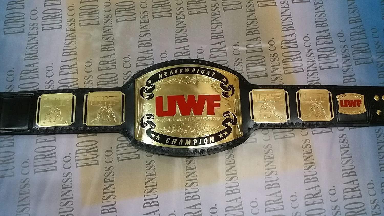 New Replica UWF Championship Belt Adult Size Metal Plates & Bag