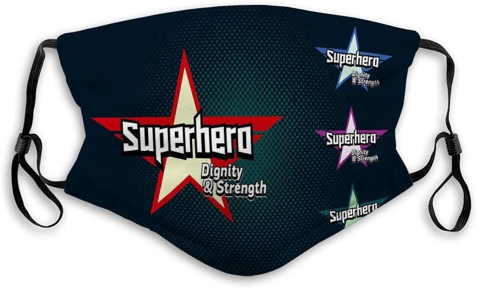 91g Mask Masks for Kids Teens Men Women Super Hero Typography Superhero Mask