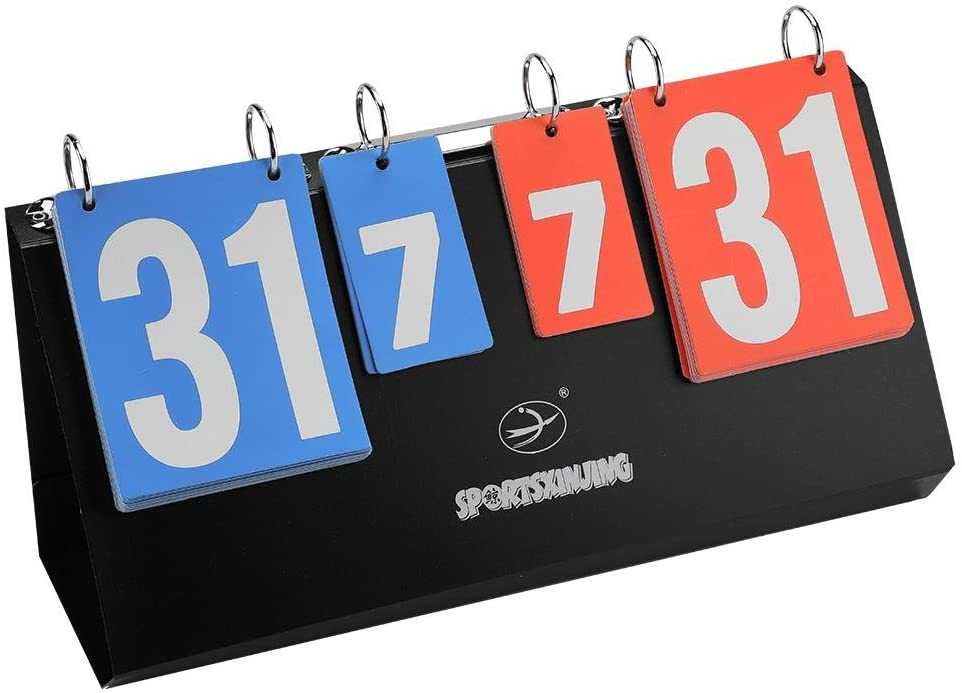 Dioche Portable Scoreboard/Score Keeper/Score Flipper/Flip Scoreboard for Basketball Competition