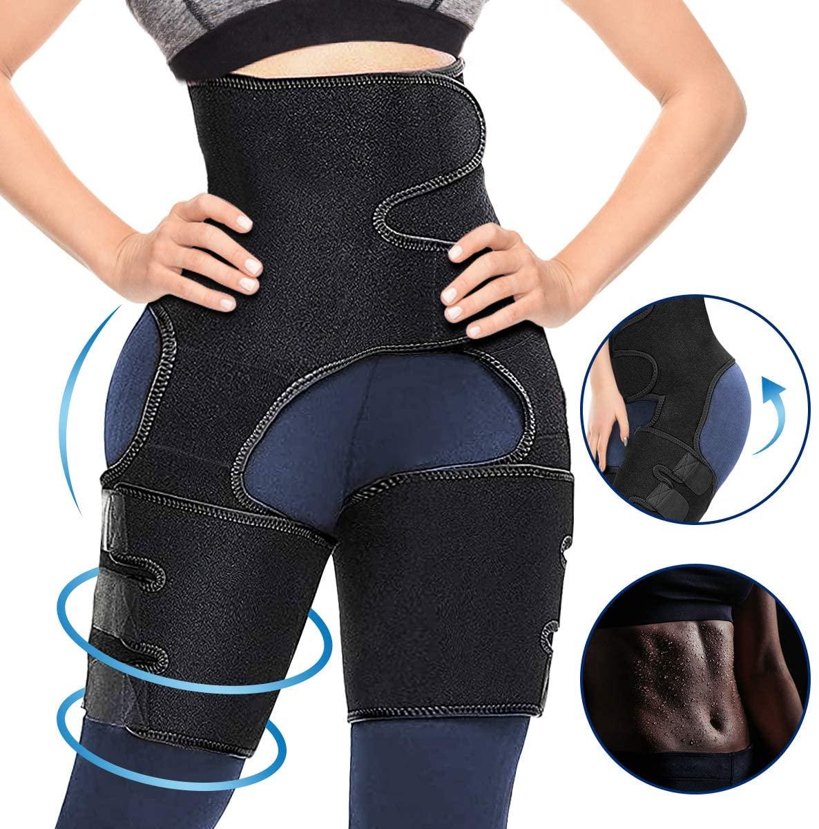 CAMTOA 3 in 1 Waist Thigh Trimmer and Butt Lifter, Waist Trainer Butt Lifting Thigh Trimmer for Women Weight Loss Hip Enhancer Shapewear Body Shaper Slimming Belt Workout