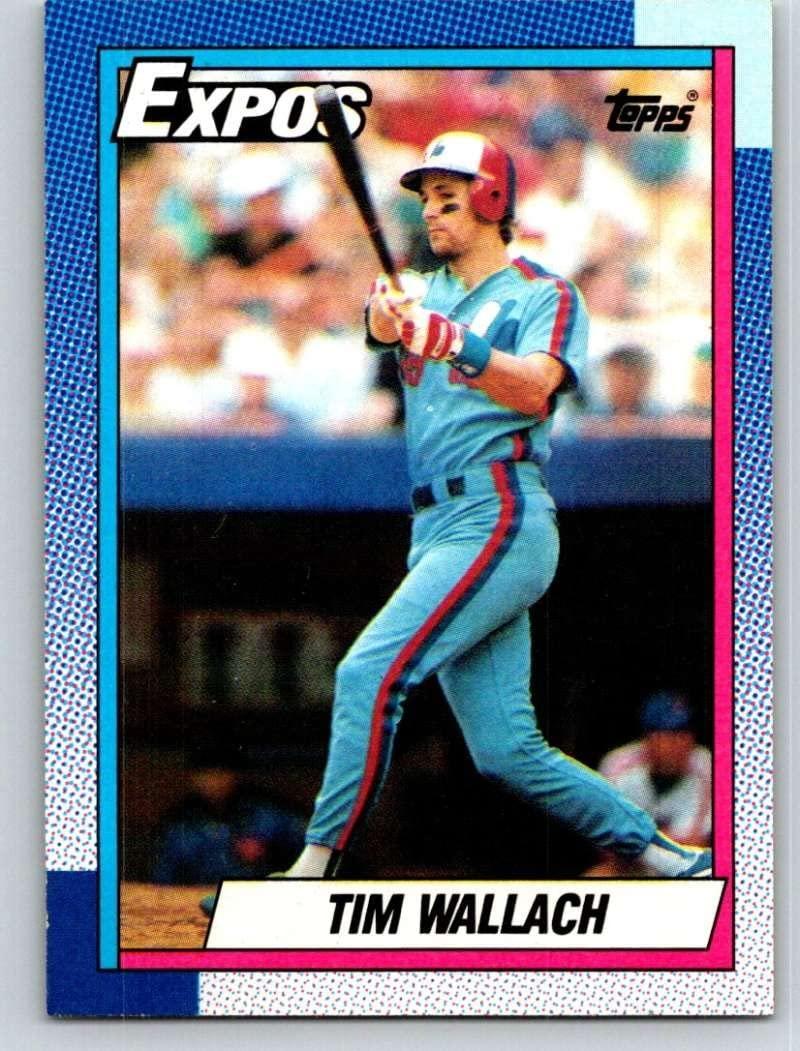 1990 Topps #370 Tim Wallach Mint Baseball MLB Expos