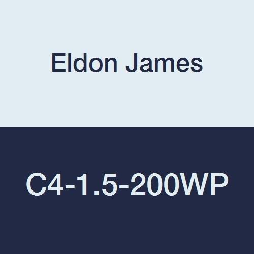 Eldon James C4-1.5-200WP Industrial White Polypropylene Reduction Coupler, 1/4