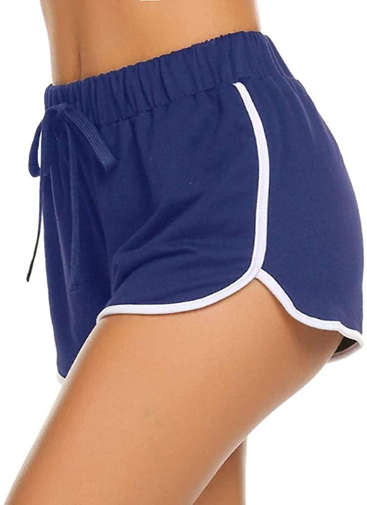 ESKNAS Women's Yoga Pants Bandage Elastic High Waist Sport Workout Running Shorts Beach Sleep Short Pants