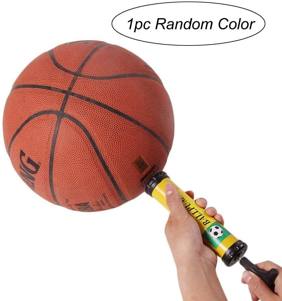 Sports Ball Inflating Air Pump Needles Pin Nozzle Inflation Hand Pump Soccer Basketball Football 8 Inch Random Color