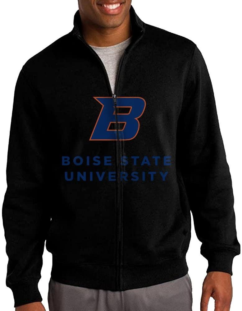 ILKU Men's Boise State University Full Zip Hooded Sweatshirt Jacket Black