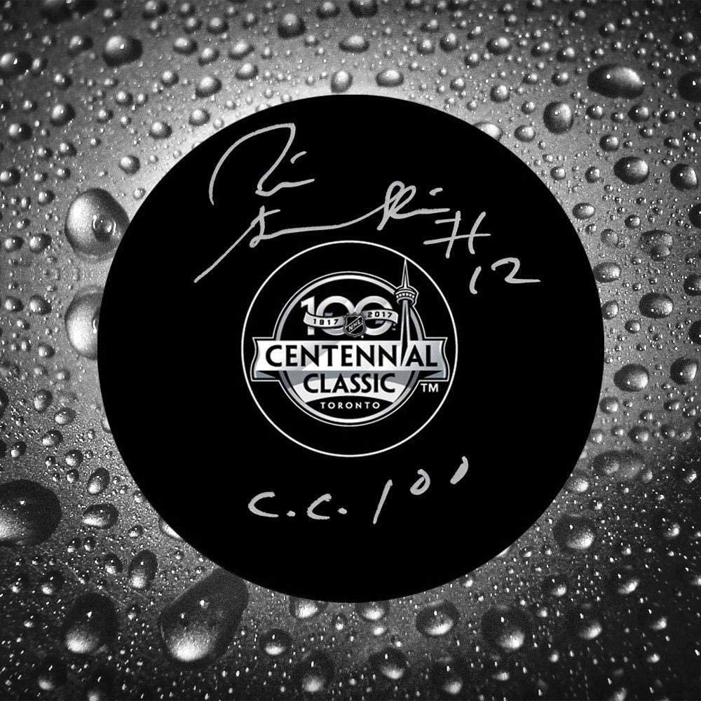 Pete Stemkowski Autographed Hockey Puck - 2017 Centennial Classic - Autographed NHL Pucks