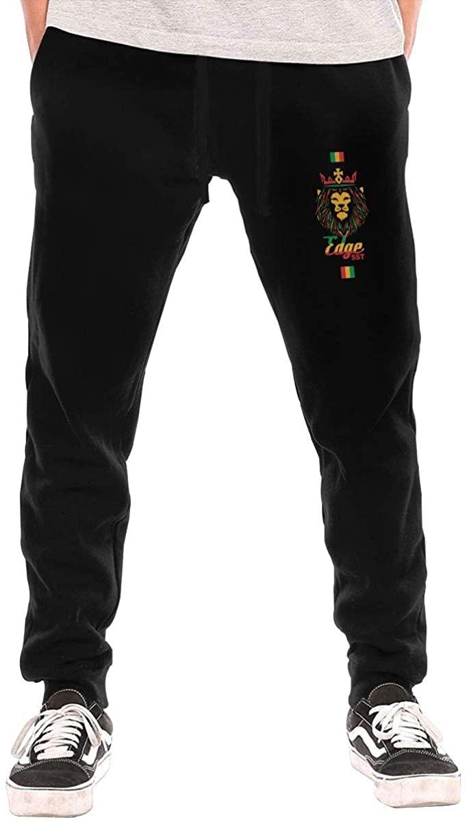 AP.Room Men's Ja Rastafari Logo Jogging Trousers Black
