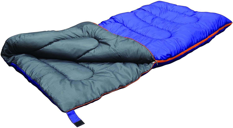 Stansport Explorer Sleeping Bag, Blue/Grey, 4 lb