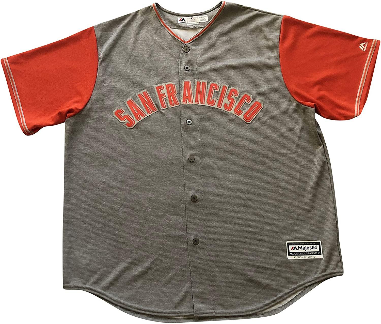 Majestic San Francisco Giants MLB Cool Base Men's Button Jersey