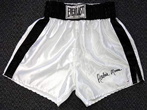 Archie Moore Autographed Everlast Boxing Trunks #X30921 - PSA/DNA Certified - Autographed Boxing Robes and Trunks