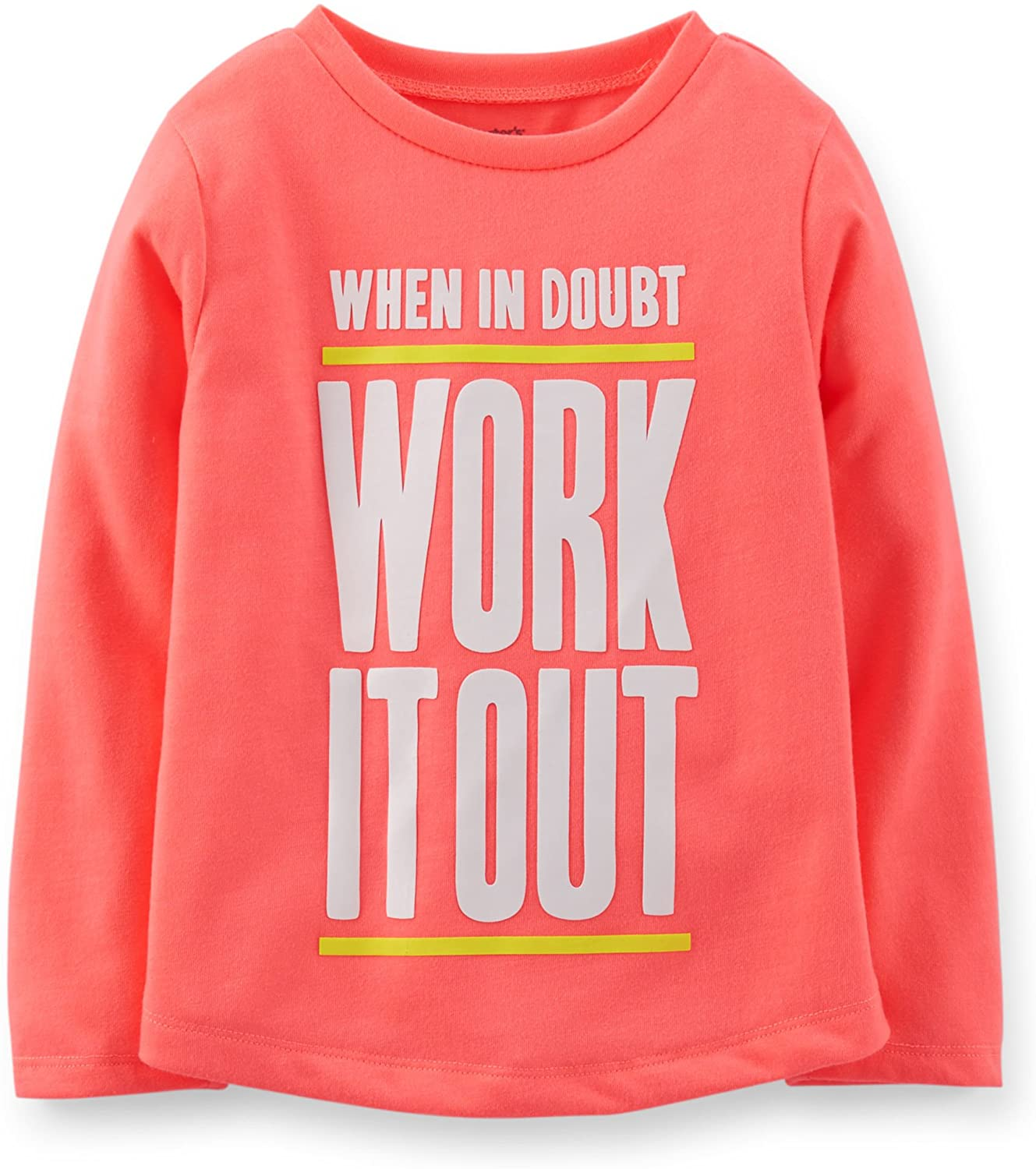 Carter's Girls' Jersey Athletic Workout Top (6X Kids, Coral)