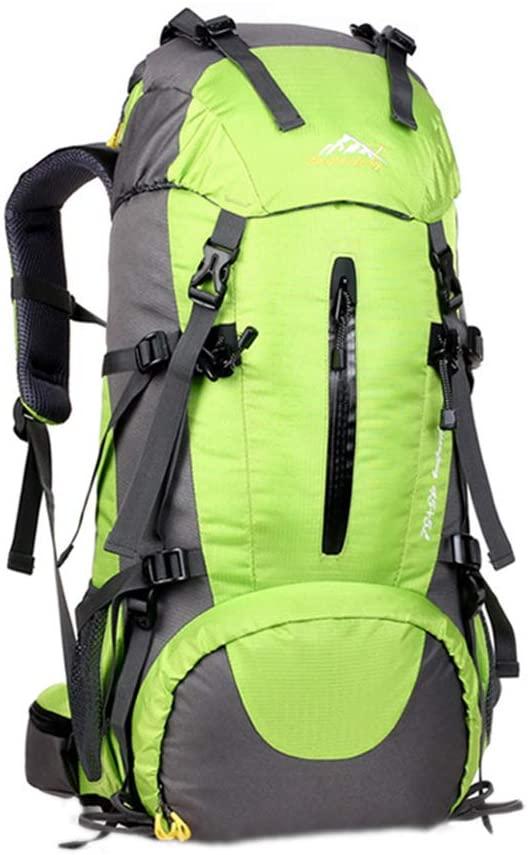 Maserfaliw Climbing & Hiking Equipment, Classical Basic Travel Backpack,50L Waterproof Outdoor Backpack Camping Hiking Rucksack Bag Large Capacity - Green