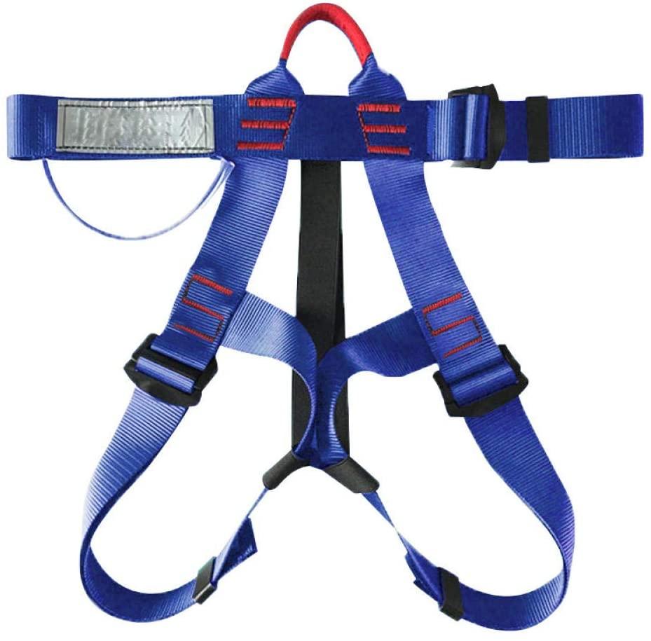 WDSJ Climbing Harness Half Body Harnesses Mountaineering Climbing Gearanti-Fall Safety Belt Outdoor Rock Safety Climbing Rappelling Harness Seat Belt