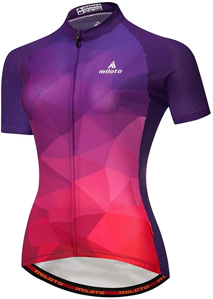 MILOTO Women Biking Clothing Summer Cycling Jerseys Team Bike Shirts