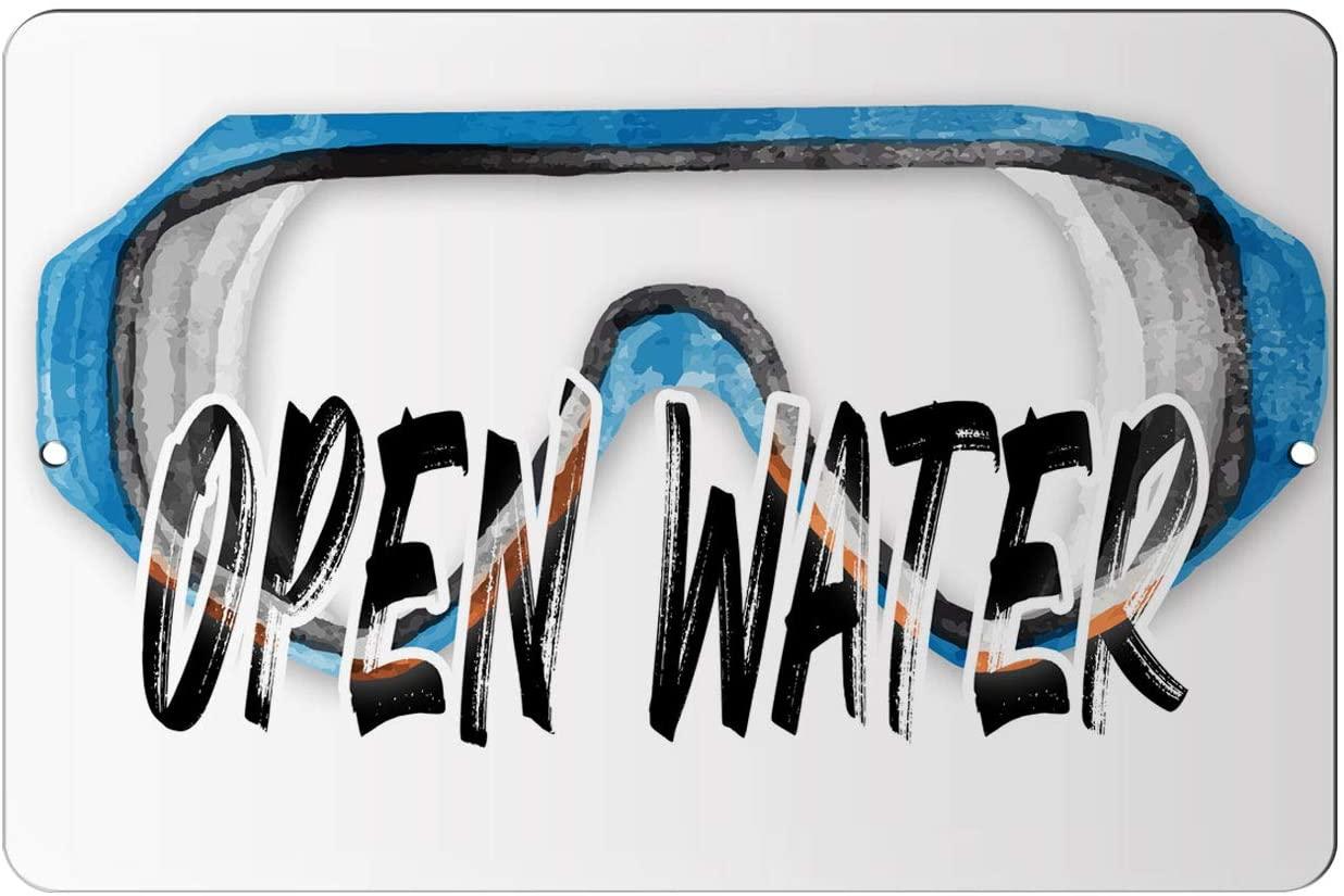 Makoroni - Open Water Scuba Diving Design 8x12 inc Aluminum Decorative Wall Street Sign