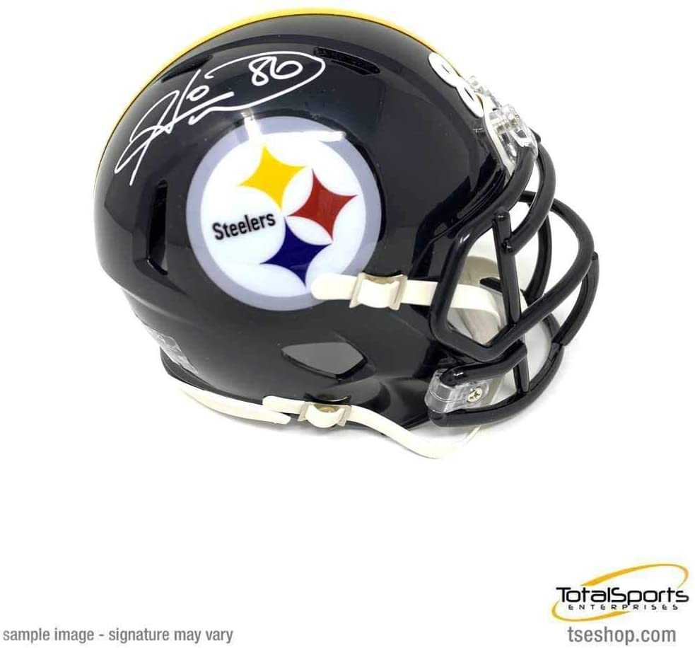 Signed Hines Ward Mini Helmet - Black SPEED - Autographed NFL Mini Helmets