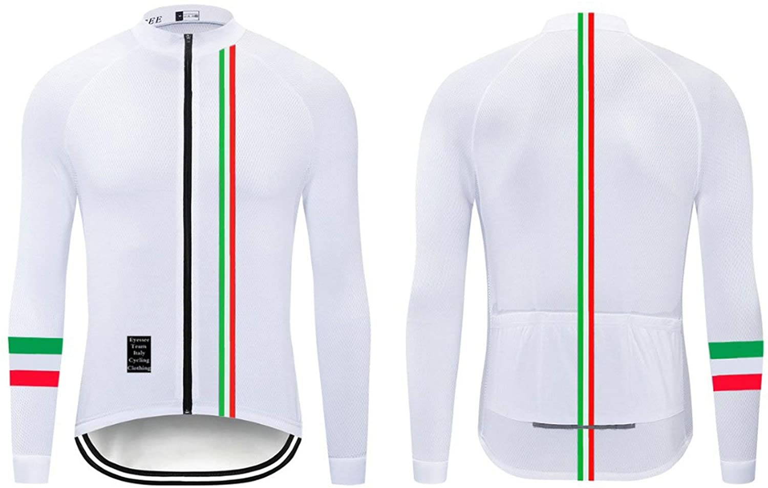 Cycling Jerseys Men's Long Sleeve Bicycle Jersey Winter Thermal Fleece Breathable Jersey V417