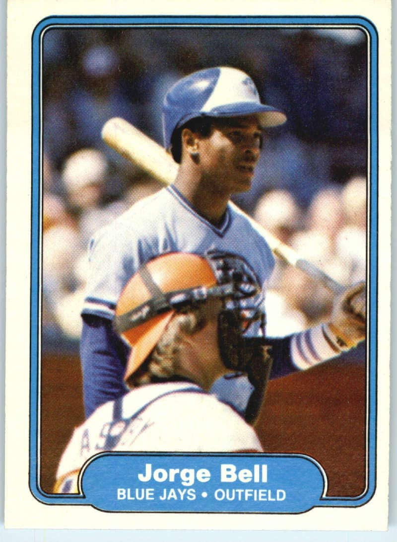 1982 Fleer Baseball Card #609 Jorge Bell RC Rookie Card Toronto Blue Jays Official MLB Trading Card