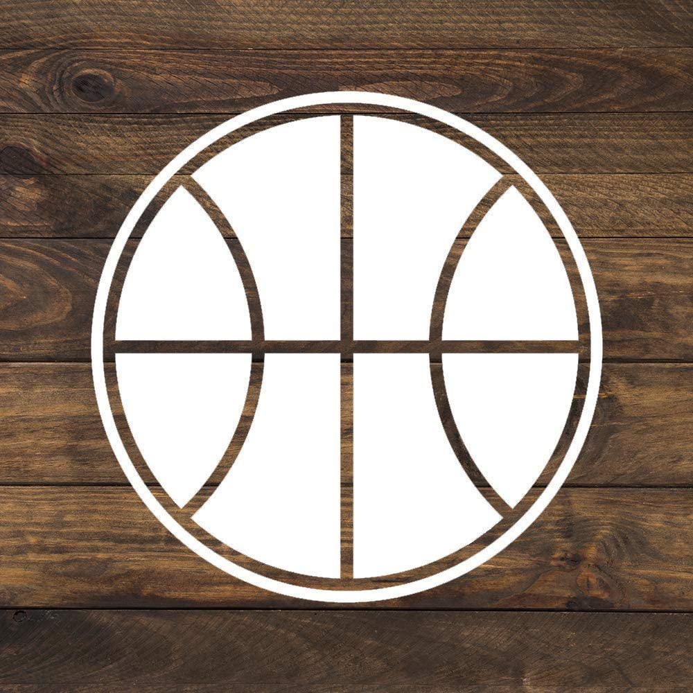 None Brand Basketball Sports Vinyl Sticker Graphic Bumper Tumbler Decal for Vehicles Car Truck Windows Laptop MacBook Phone Wall Door