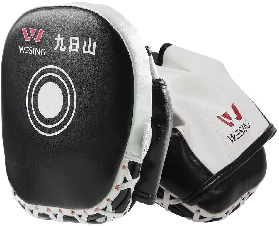 wesing Punching Mitts Boxing Hook & Jab Pads MMA Target Focus Punching Mitts for Pair