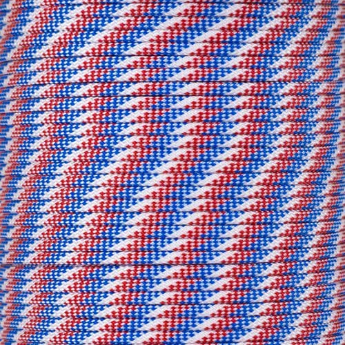 PARACORD PLANET 10 20 25 50 100 Foot Hanks and 250 1000 Foot Spools of Parachute 550 Cord Type III 7 Strand Paracord (Red; White; Blue 1000 Foot Spool)