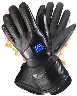 Asiand Electric Heated Gloves Waterproof Winter Gloves Anti-Cold Warm Glove, Rechargeable Motorbike Glove &Bicycle Touch Screen Windproof Cold Sports Climbing