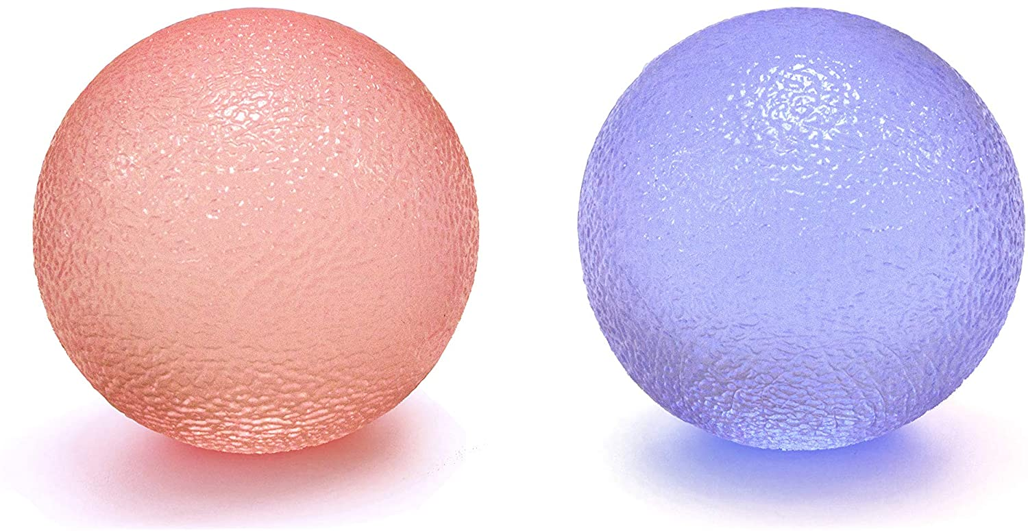 Youri Soul Hand Stress Balls - Hand Therapy Balls - Hand Grip Balls - Hand Squeeze Balls for Stress Relief, Arthritis Pain Relief, Strengthening Therapy, Set of 2 Color Squeeze Balls