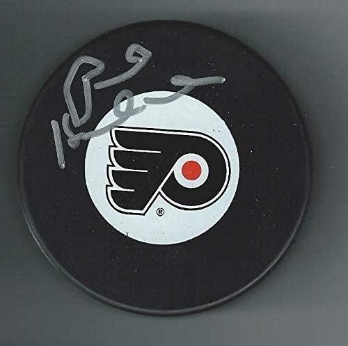 Paul Holmgren Autographed Puck - Autographed NHL Pucks