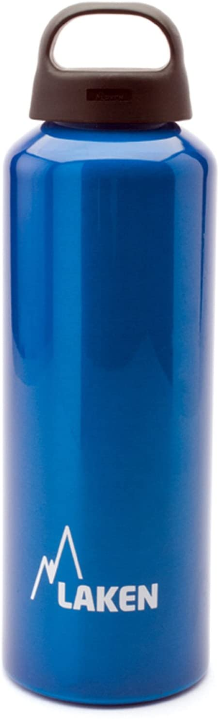 Laken Classic Aluminum Water Bottle, Wide Mouth with Screw Cap and Loop, BPA Free, Made in Spain, 20-34 Ounce