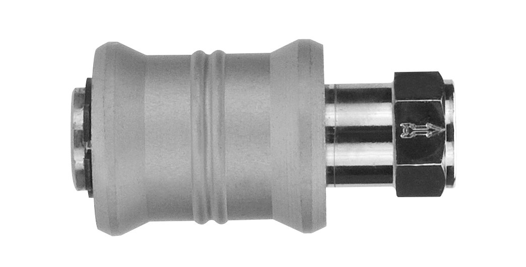 AIGNEP USA 82660-06 Slide Valve, 3/8 Female NPTF Thread (Nickel Plated Brass)