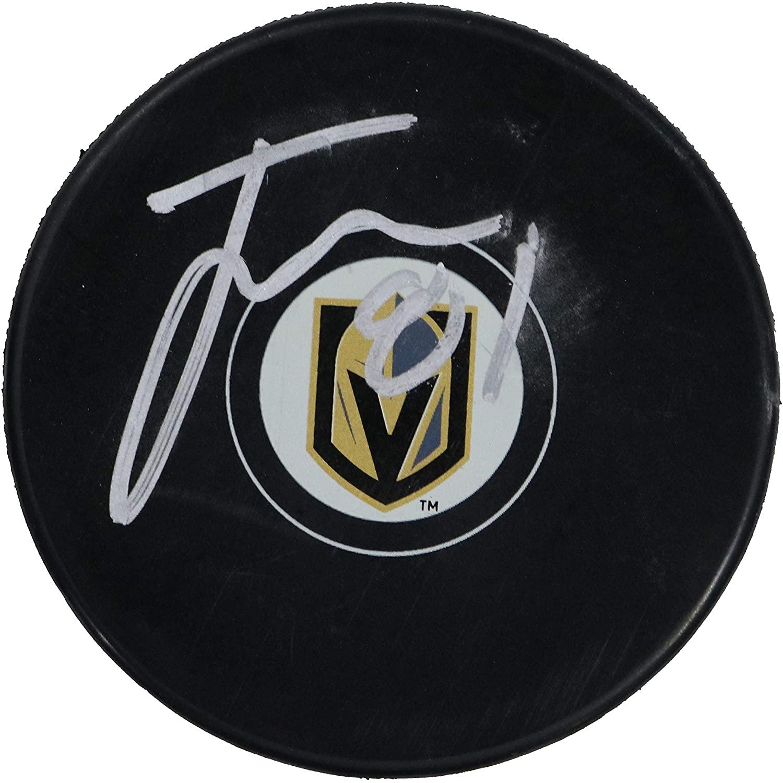 Jonathan Marchessault Vegas Golden Knights Signed Autographed Golden Knights Logo NHL Hockey Puck COA