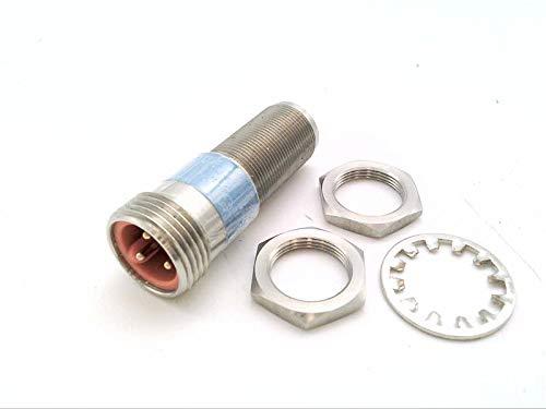 RADWELL RAD02371 M18 INDUCTIVE, N/O, 3-PIN AC Micro Dual Keyway M12 QD, Proximity Sensor - 1-PC SS Body & FACE, Threaded, 2-Wire AC, Cylindrical, Shielded, 5MM Range