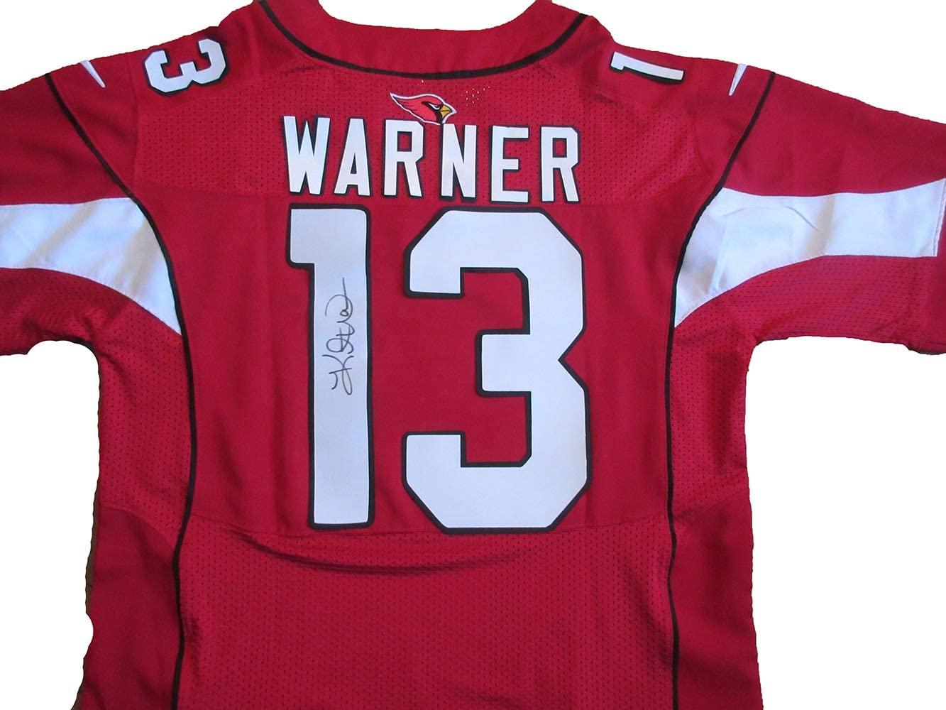 Kurt Warner Autographed Arizona Cardinals Jersey W/PROOF Picture of Kurt Signing For Us, St. Louis Rams, Arizona Cardinals, Super Bowl Champion, New York Giants, Green Bay Packers, MVP