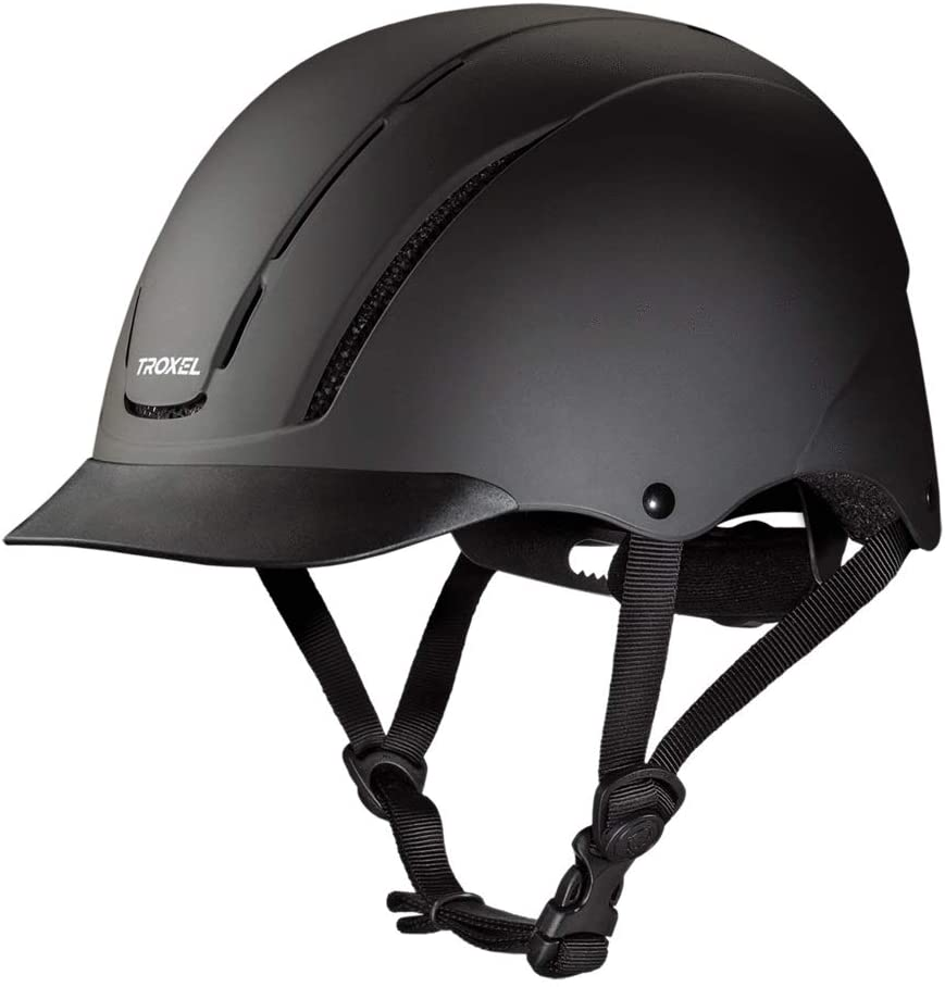 Troxel Spirit Black Duratec Safety Horse Riding Training Adjustable Helmet (Small 6 1/2