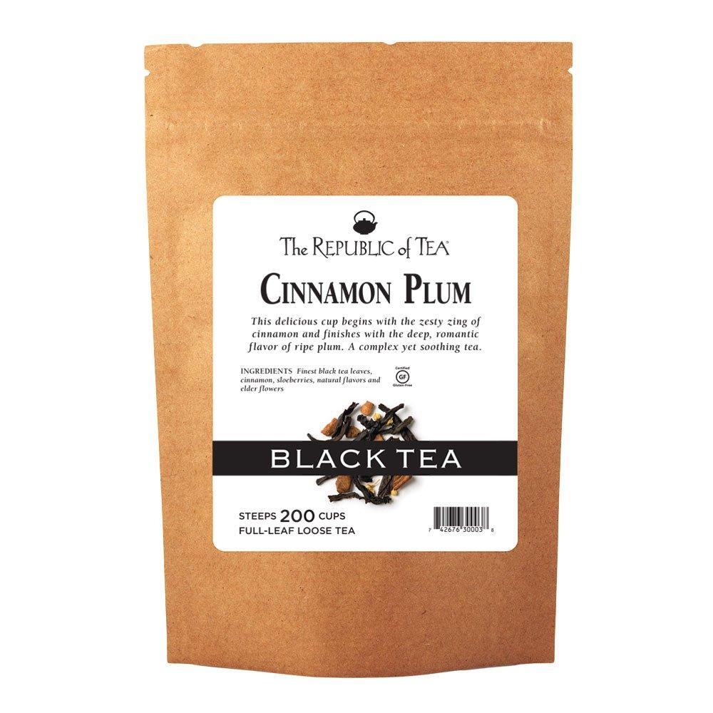 The Republic of Tea Cinnamon Plum Black Full-Leaf Tea, 1 Pound / 200 Cups
