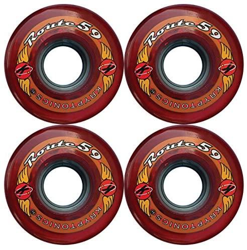 KRYPTONICS Route 59MM 78A RED Longboard Cruiser Skateboard Wheels