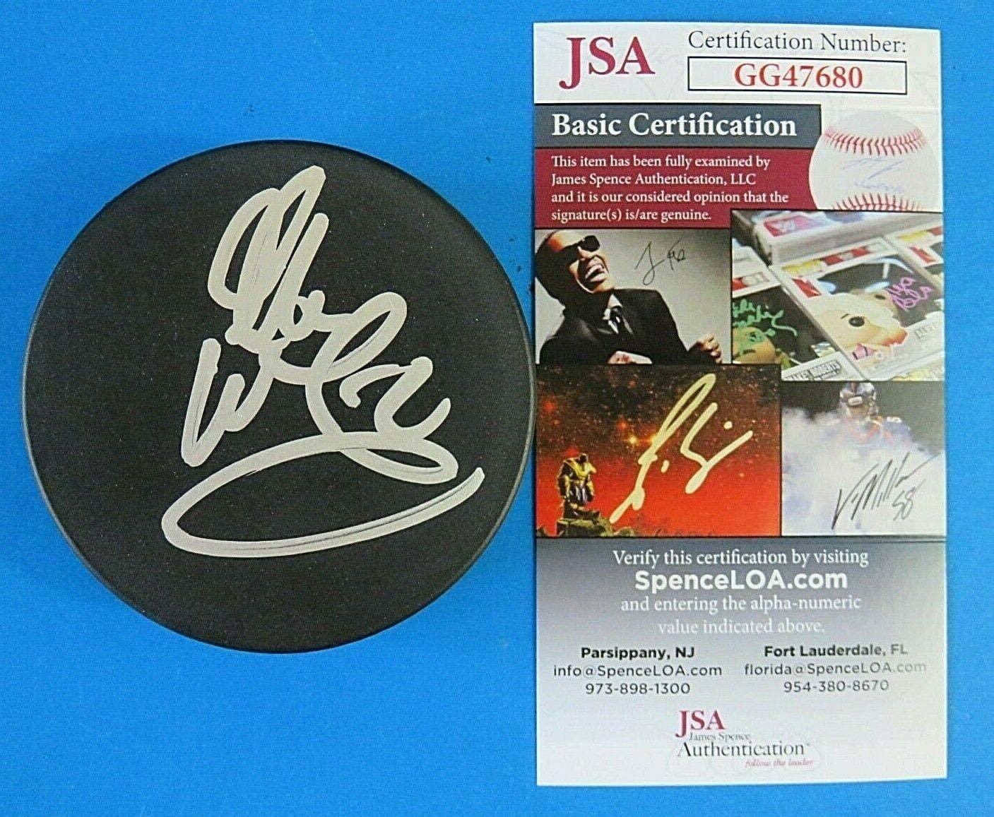 Glen Wesley Signed Puck - ~ GG47680 - JSA Certified - Autographed NHL Pucks