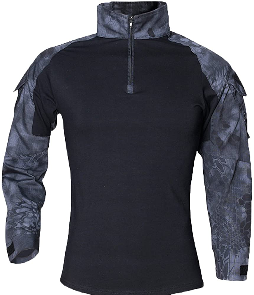 YOUNGFASHION Mens Military Airsoft BDU Shirt Combat Tactical Army Long Sleeve Shirt